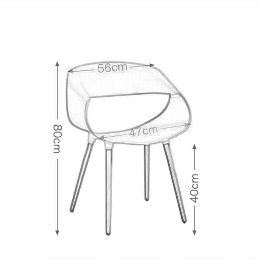 HURONG168 Chaises de cuisine Balcon Maison Salle à manger Chaise Salon Sièges Bar Chaise Chambre Terrasse Chaise de repos siège lounge (Couleur : Rouge) Jaune
