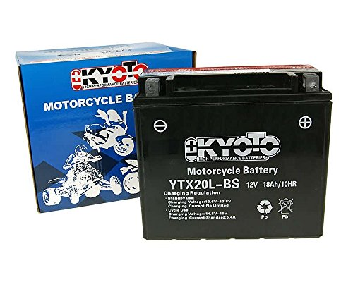 Batterij Kyoto 12 V GTX20L-BS MF onderhoudsvrij - BOMBARDIER QUAD Outlander 200 04 [incl. 7,50 EUR batterijgarantie ]