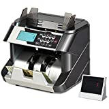 RELAX4LIFE Geldzählmaschine, Geldzähler mit Zählanzeige & Addition- & Erkennungsfunktion, Geldscheinzähler manueller & automatischer Startauswahl, Banknotenzähler für Euro & Pfund & Dollar