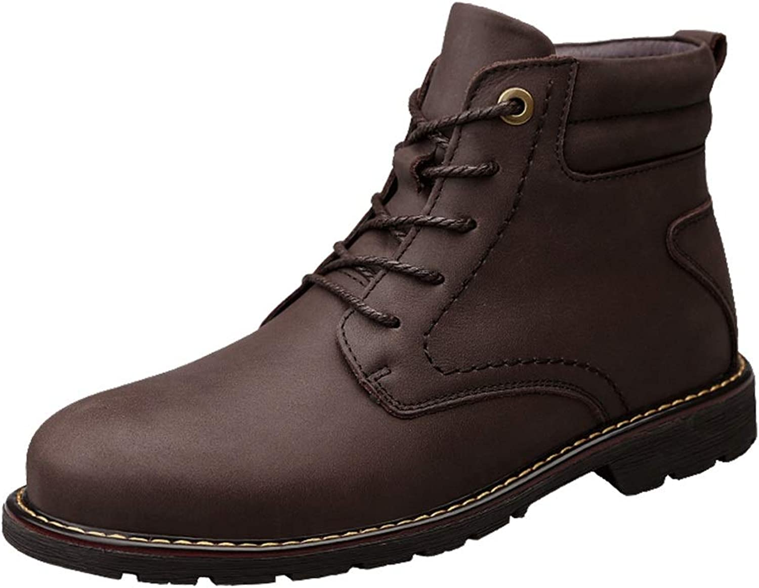 Men's Ankle Boots Casual Solid color Round Toe Rubber Outsole Martin Boots