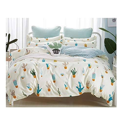 GSZPXF Simple Duvet Cover Bedding (Color : 19, Size : Queen 4pcs 200x230)