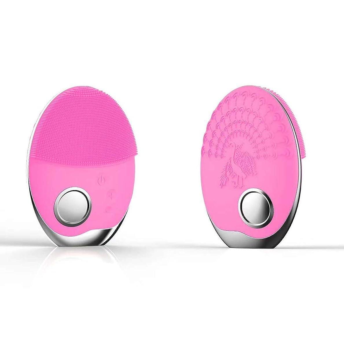 シリコーン防水クレンジング器具、ワイヤレス充電光線療法洗浄ブラシ、フェイシャルクレンジングフェイシャルクレンジング器具