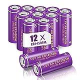 12 unids PKCELL 3.6V AA batería de litio ER14505M 1800mAh tipo de energía Li-SOCl2 baterías de cloruro de tiónico de litio