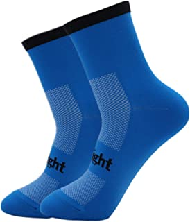 Gecheer Cycling Socks Moisture-Wicking Bike Socks Men Women Sports Running Gym Training Socks Size 7-12