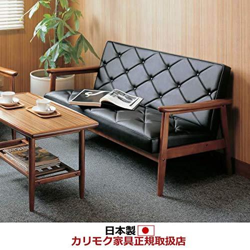 カリモクソファ・2人掛け応接ソファ/WS11モデル/合成皮革張長椅子