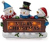 VP Home Merry Christmas Snowman Trio LED Holiday Light