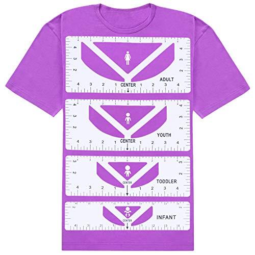 Guía de regla para camiseta, guía de regla para camisetas, reglas de camisetas a centro, alineamiento de vinilo, herramienta de...