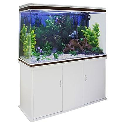 Monstershop Aquarium Starter Komplettset Aquarium mit Unterschrank Kies Aquarium Hintergrund 143.5cm H x 120.5cm B x 39cm T
