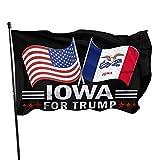 Banderas Americanas Iowa para la Bandera de Trump 3 X 5 pies 3x5 pies Banderas jardín jardín Banderas Bandera Americana patriótica decoración al Aire Libre