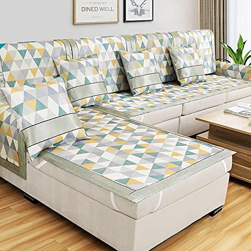 GGFHH Funda de sofá Impermeable Chaise Longue, Protector Chairse Longue Cubierta para Sofás Cubre de Sofa Antideslizante Adecuado para cojín de sofá de 290-330 cm.