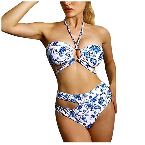 Traje de baño para mujer, diseño de bikini con estampado de pechos