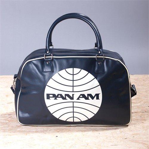 PAN AM GLOBE 48HOUR TRAVEL BAG SPORT & REISE TASCHE Umhängetasche PAN-AM logo DUNKELBLAU...
