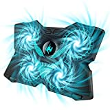 Laptop Cooling Pad, Gaming Laptop Cooler Stand with 4 Silent Big Fans for Notebook, Stable Cooling...