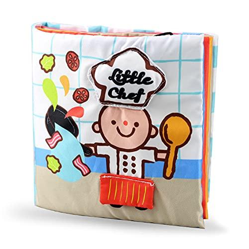 Amycute Baby Knisterboek, stoffen boek voor baby's, zacht boek voor baby's, zachte fotoboeken voor unisex baby, zachte…