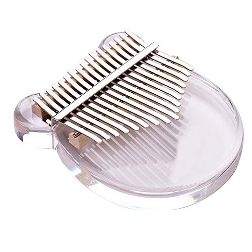 Miaoxin Kalimba 17-Key Daumenklavier, transparentes Acryl-Geschenkset mit Tasche Aufklebern Hammer Normal