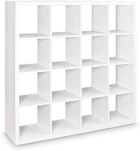 LOFT Regal mit 16 Fächern Bücherregal Wohnzimmer Schlafzimmer Lounge Cube Wandregal kombinierbar Weiß