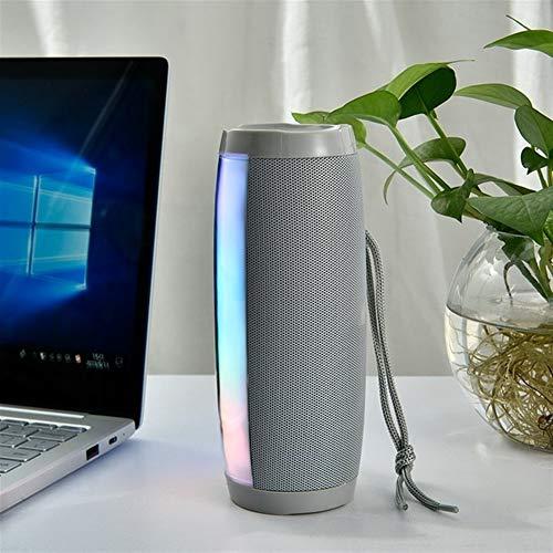 DKEE Altavoz Portátil Bluetooth Bluetooth Gray LED 1200 MAH Strap Tela Impermeable FM Radio Subwoofer bocina Bluetooth