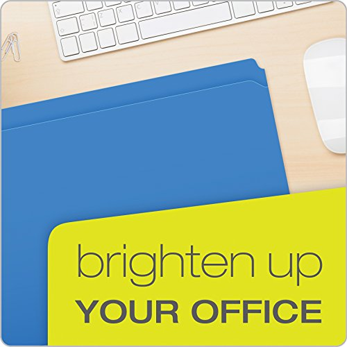 Pendaflex Color Reinforced Top File Folders, Letter Size, Full Tab Position, Blue, 100 Per Box (R152 BLU) Photo #7