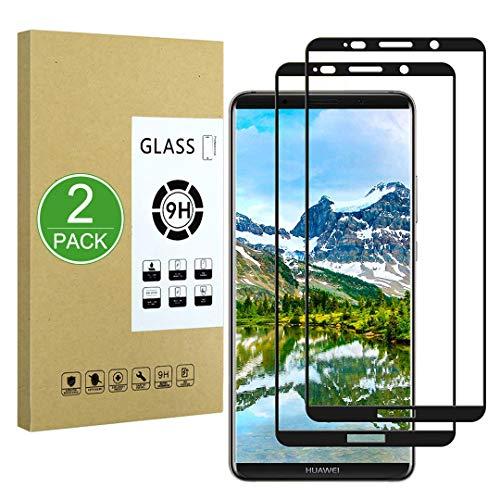 X-Dision Pellicola Salvaschermo Compatibile con Huawei Mate 10 PRO[2 Confezioni],Vetro Temperato a Copertura Totale,[Installazione Facile][Durezza 9H]per Huawei Mate 10 PRO,Nero