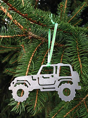 Christmas 4x4 Metal Ornament, off road, perfect for jeep owners