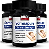 Somnapure Clinical Strength Sleep Aid for Adults with #1 Doctor-Recommended Sleeping Pill Ingredient Diphenhydramine HCl, Non-Habit-Forming, Nighttime Sleep Support, Force Factor, 90 Caplets (3-Pack)
