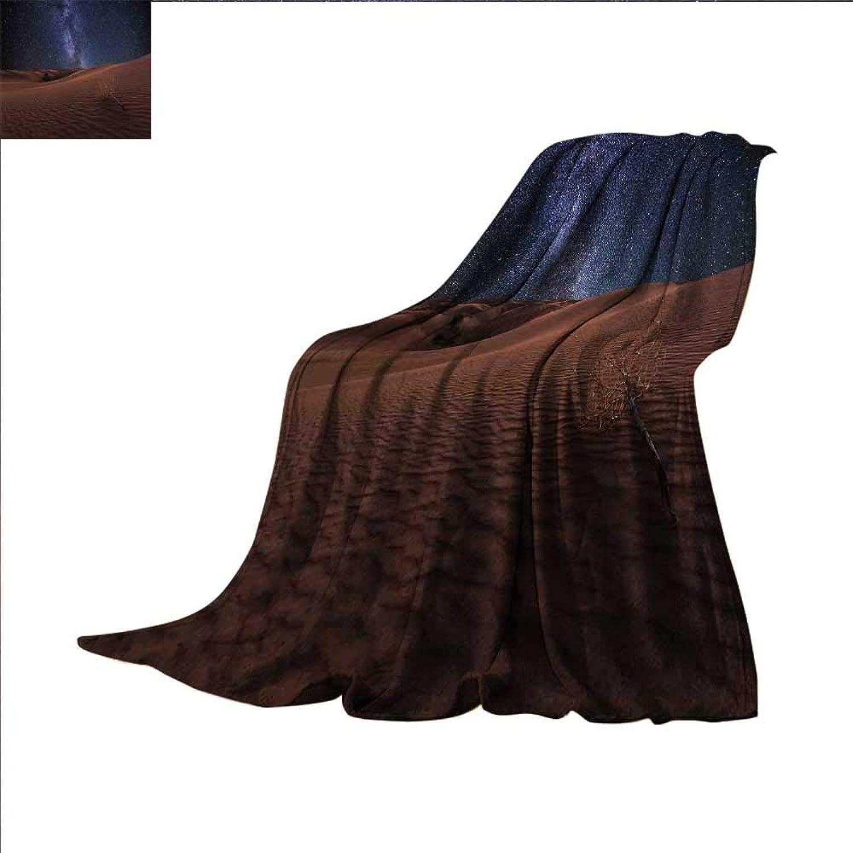 Smallbeefly Space Digital Printing Blanket Life on Mars Themed Surreal Surface of Gobi Desert Dune Oasis Lunar Adventure Photo Summer Quilt Comforter 60 x50  Brown bluee