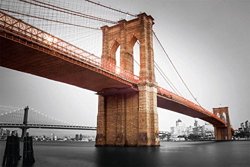 empireposter City-Brooklyn Bridge Colourlight-poster New York brug grootte 91,5x61 cm, papier, kleurrijk, 91,5 x 61 x 0,14 cm