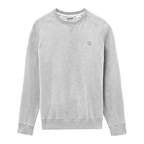 Timberland Exeter River Basic Crew Sweater Large Grey Heather