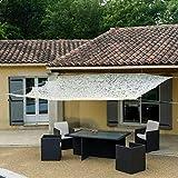 WerkaPro 10795 - Toldo rectangular calado de poliéster, 120 g/m2, 3 x 4 m, para balcón, terraza y jardín, beis