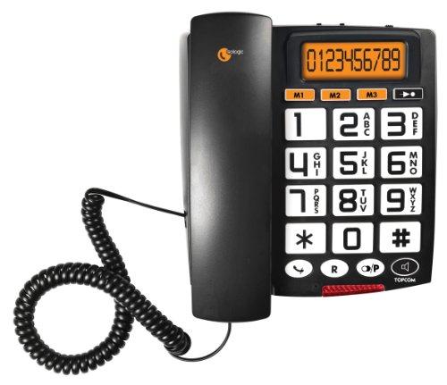 Topcom TS-6651 Sologic A801 Audiosonic Telefono con Grandi Tasti, Nero