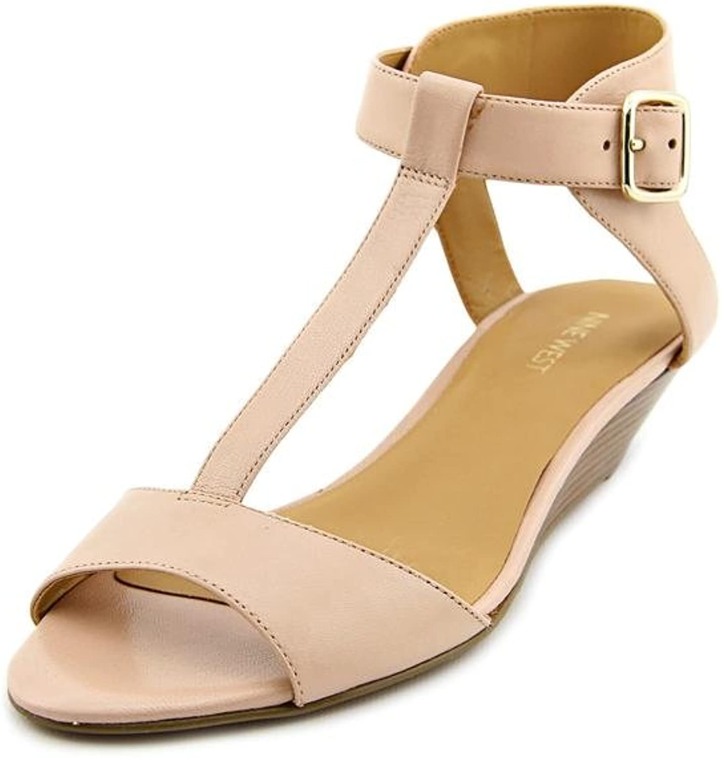 Nine West Verucha Womens US Size 7.5 Nude Leather Dress Sandals shoes