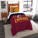 NORTHWEST ENTERPRISES Cleveland Cavaliers - 2 Piece Twin Size Printed Comforter Set - Entire Set Includes: 1 Twin Comforter (64x86) & 1 Pillow Sham - NBA Basketball Bedding Bedroom Accessories