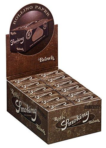 Smoking Brown Rolls ongebleekt papier slim ongebleekt bruin 3x boxen (72 rollen)