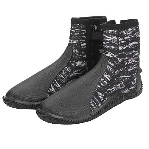 FOLOSAFENAR Zapato de Buceo de 5 mm Zapato de Buceo de Neopreno de 5 mm Tamaño 42 Bota de Buceo Duradera Ligero Cómodo para bucear, Nadar