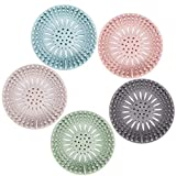 Hair Catcher Durable Silicone Hair Stopper Shower Drain Covers Easy to Install and Clean S...
