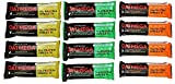 Oatmega Grass-Fed Whey Bars Variety Pack of 12-1.8 oz