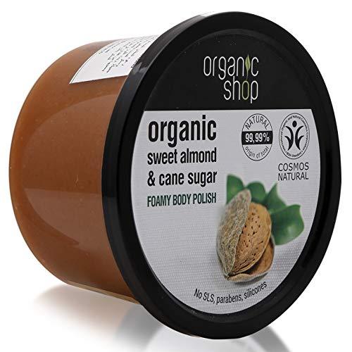 Organic Shop Foamy Body Polish Natural Sweet Almond and Cane Sugar 250ml by Organic Shop,