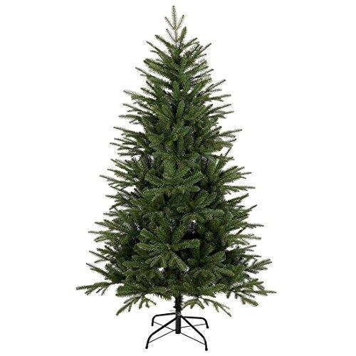 Mr Crimbo Luxury 180cm (6ft) Artificial Christmas Tree Xmas Indoor Pine Decoration Festive Season Fake Needles