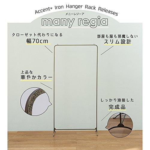 Accent+日本製アイアンハンガーラックManyRegia-メニーレジーア-おしゃれコートハンガー玄関(ブラック)
