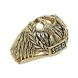 Anello da uomo in oro 14 K con aquila impero romano SPQR e Oro giallo, 65 (20.7), cod. GG005