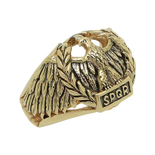 Anello da uomo in oro 14 K con aquila romana e Oro giallo, 65 (20.7), cod. GG005