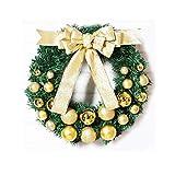Corona de Navidad Decoración de Navidad Corona de Navidad de la guirnalda de ratán artificial for el frente de la puerta colgar de la pared de la ventana de la decoración del banquete de boda guirnald