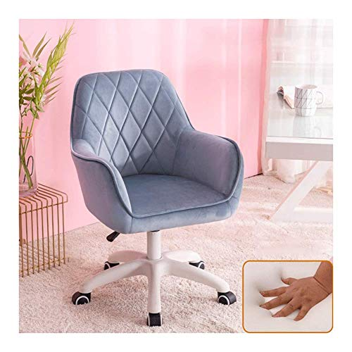 N/Z Daily Equipment Beauty Chair Barber Chair Comfy Fabric Computer Chair Adjustable Height Office Chair with Chrome Base Padded Swivel Chair Home/Office Furniture (Color : 8)