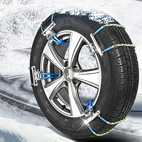 YHtech Cadena Universal de la Nieve del Invierno Antideslizante Cadena Antideslizante Cadena de Emergencia de la Bola de Nieve de Neumáticos for Automóviles SUV