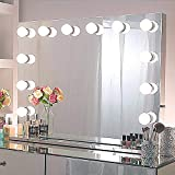 Chende Hollywood Light, Makeup Dressing Table Set Mirrors with Dimmer, Tabletop Vanity LED...