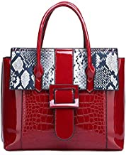 Women's Patent Leather Purses and Handbags top handle Shoulder Bags Tote Bag