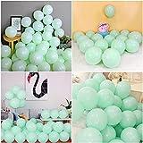 Unisun Globos verdes pastel de 30,48 cm, paquete de 20 globos de látex de color verde menta, guirnalda de globos de fiesta para bodas, compromisos, aniversarios, fiestas de cumpleaños