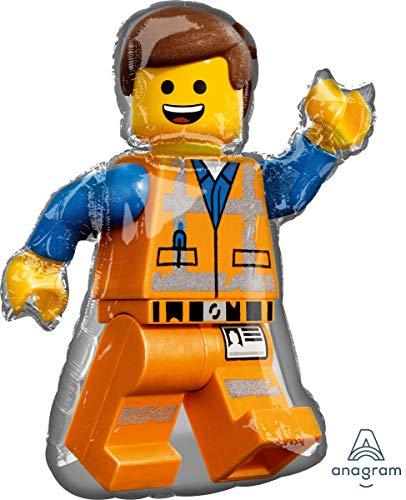 Lego Movie 2 Pallone Foil Emmet 60cm x 81cm, Multicolore, 002663539042