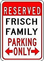 Frisch Family Parking メタルポスター壁画ショップ看板ショップ看板表示板金属板ブリキ看板情報防水装飾レストラン日本食料品店カフェ旅行用品誕生日新年クリスマスパーティーギフト