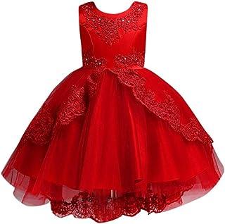 4d324f3f24501 Oliviavane Robe de Fille Dentelle Blanc Ete Princesse Vintage Parti Wedding  Girl Mariage Party Engrener Tulle